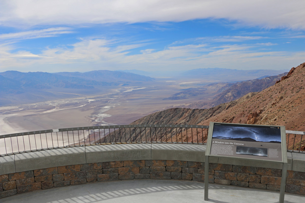 Fabricated railing at Dante's Peak, Death Valley - West - Gerlinger Steel, Redding, CA