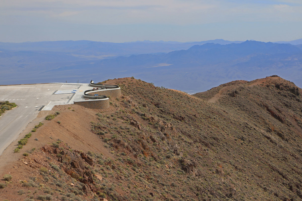 Fabricated railing at Dante's Peak, Death Valley - South - Gerliner Steel, Redding, CA